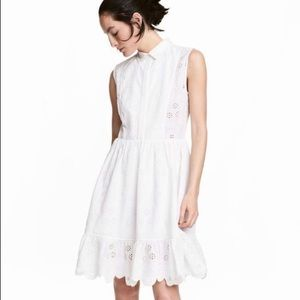 H&M Sleeveless Embroidered Dress